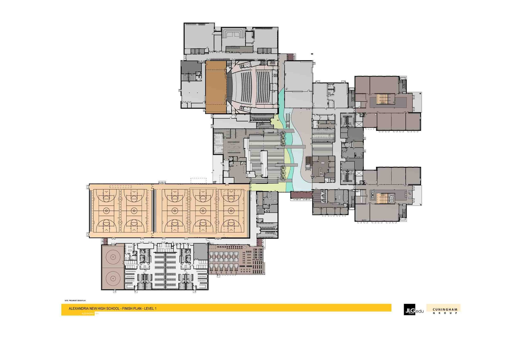 Alexandria area high school cuningham group architecture for Area of a floor plan