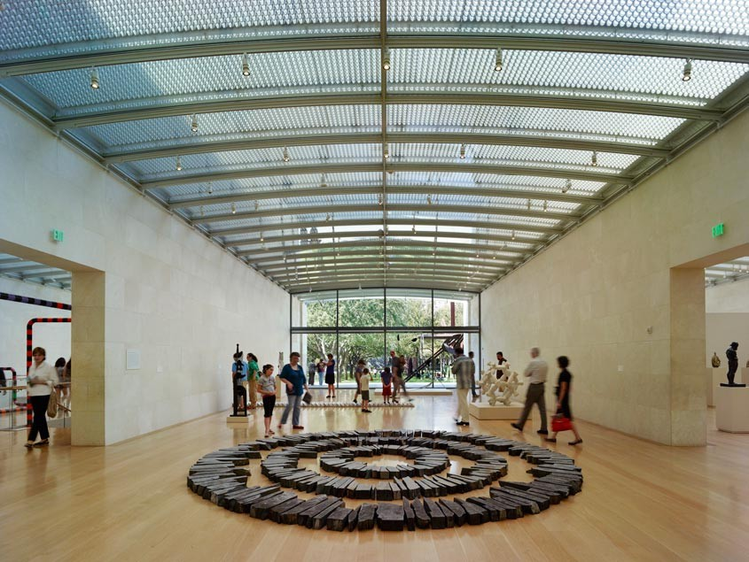 Nasher Sculpture Center interior designed by Renzo Piano. Image © Nasher Sculpture Center