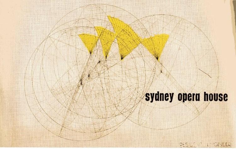 Cubierta original de la competencia para la Ópera de Sydney. Imagen - Ópera de Sydney. Image © Jørn Utzon / Courtesía de Bibliodyssey