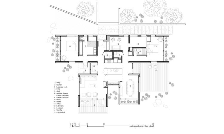 Planta residencia principal