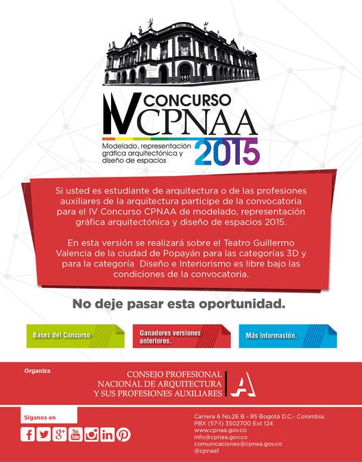 Convocatoria: IV Concurso CPNAA 2015 / Colombia