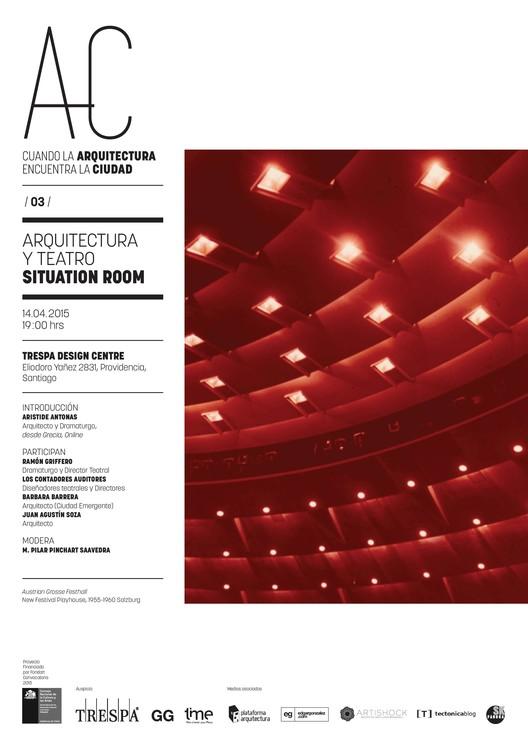 """'Arquitectura y Teatro', tercera sesión de """"Cuando la Arquitectura Encuentra la Ciudad"""" / Santiago"""