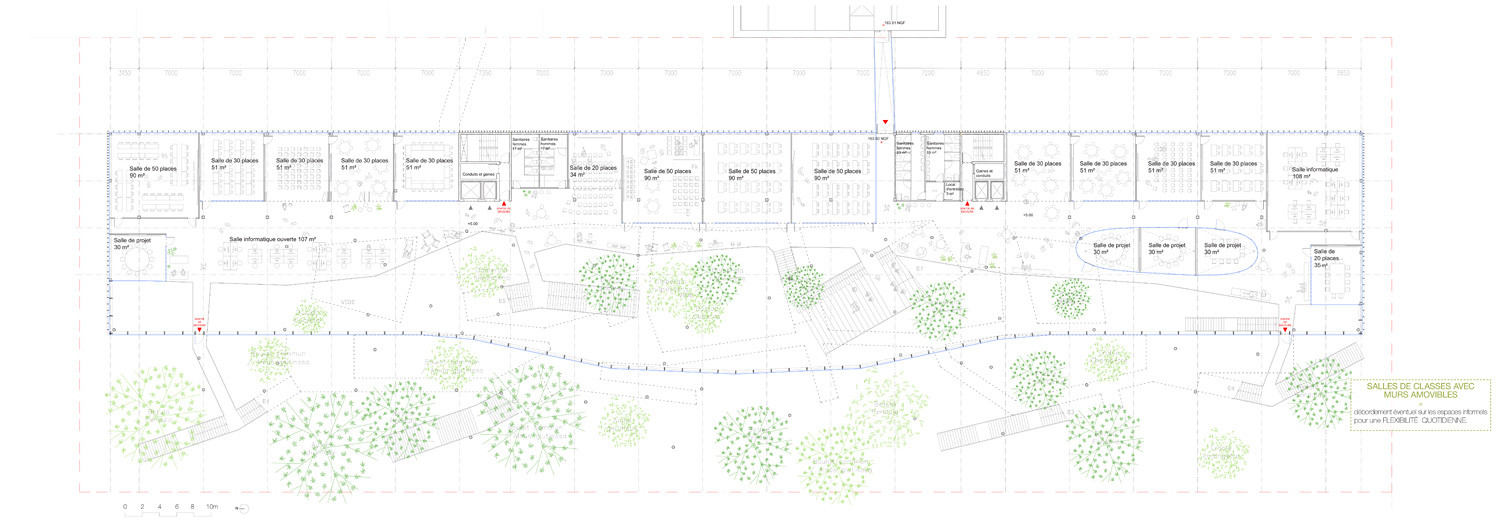 R1 Plan. Image Courtesy of Sou Fujimoto Architects, Manal Rachdi OXO Architects and Nicolas Laisné Associates
