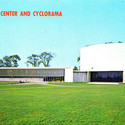 An old post card of the Cyclorama. Image Courtesy of flickr user fauxto_digit