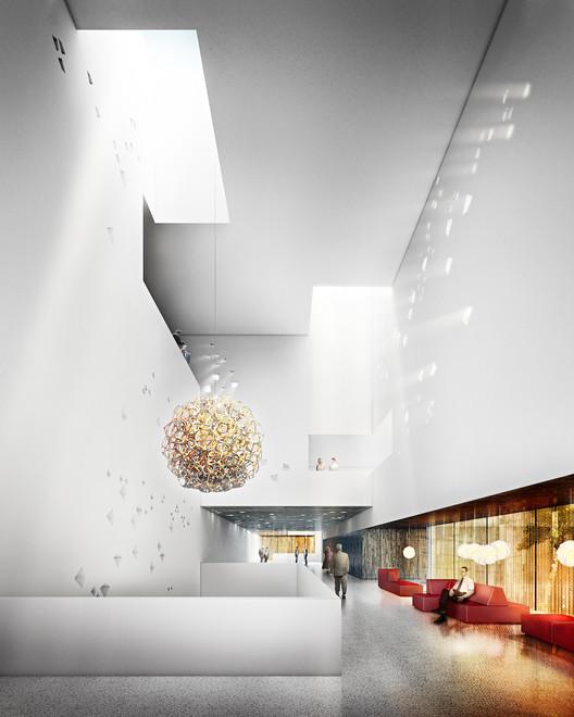 Foyer. Imagen © Mecanoo