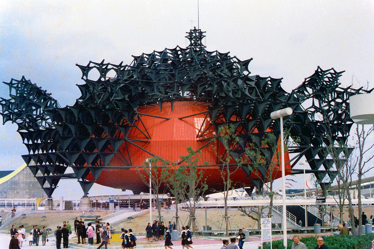 Toshiba-IHI Pavilion at the 1970 Osaka Expo. Image © <a href='https://www.flickr.com/photos/m-louis/1209773173'>Flickr user m-louis</a> licensed under <a href='https://creativecommons.org/licenses/by-sa/2.0/'>CC BY-SA 2.0</a>