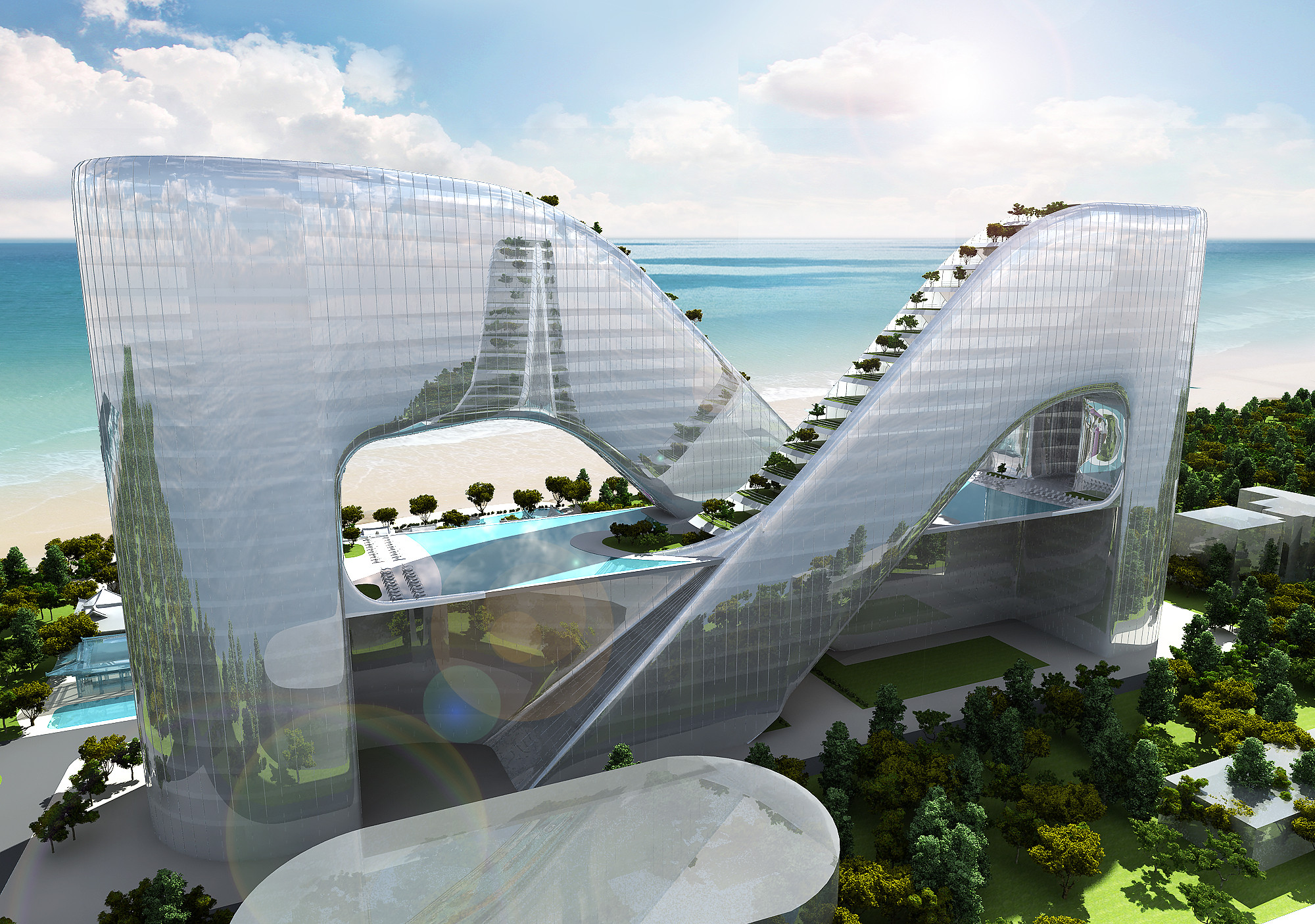Gallery of planning korea designs resort hotel for Rio design hotel