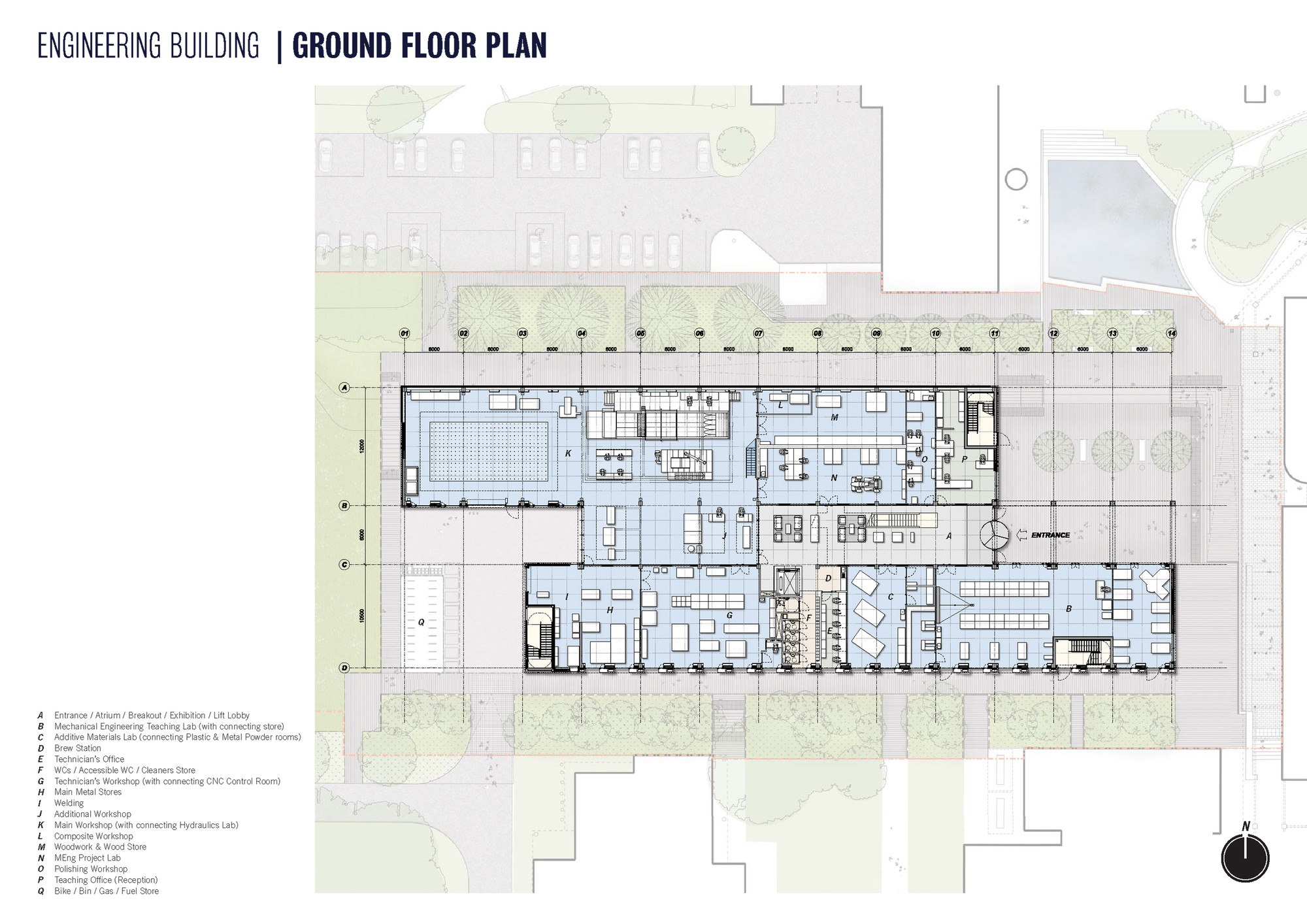 School of engineering at lancaster university john for Floor plans architecture