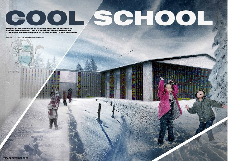 """Cool School"" Finalists Respond to Mongolia's Extreme Climate, Courtesy of Building Trust International"