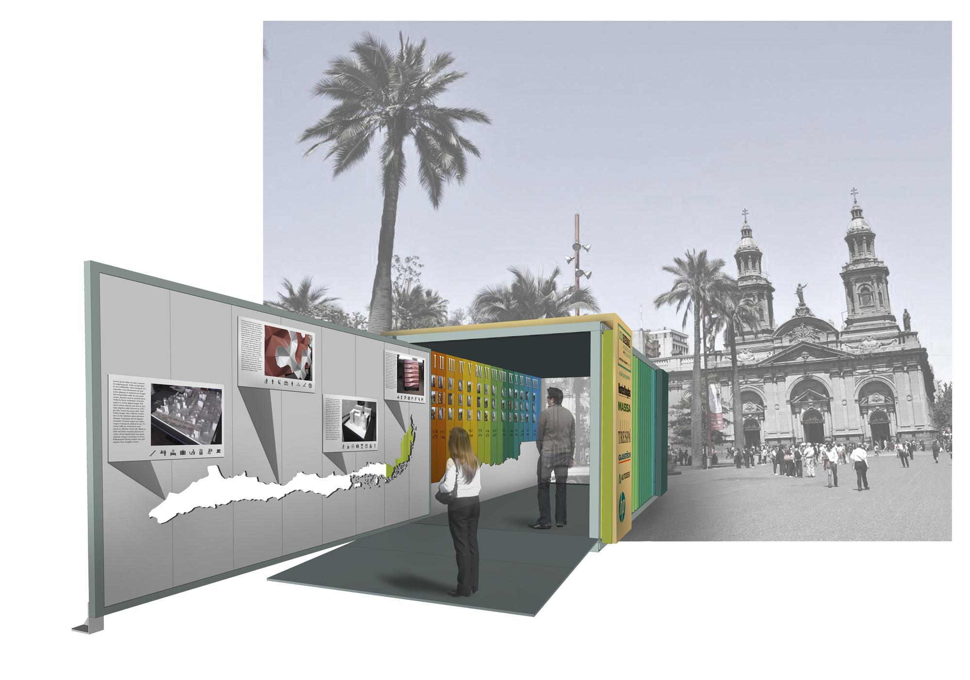 Satélites, la muestra itinerante de la XIX Bienal Chilena de Arquitectura y Urbanismo, Zona Centro. Image Cortesia de Rodrigo Ortiz
