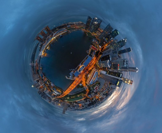 Ciudad de Singapur. Image © Air Pano/Caters News Agency