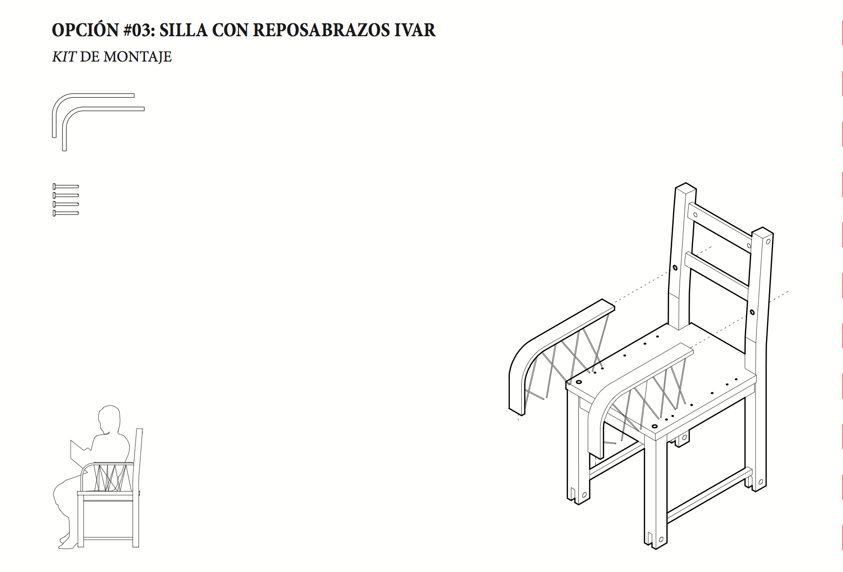 Silla all in one ivar la errer a archdaily m xico - Sillas con reposabrazos ...