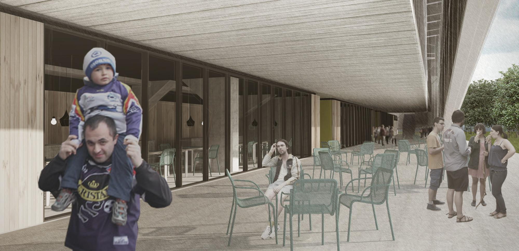 Cafetería. Image Cortesia de Rojas Böttner + Gajardo + Soto