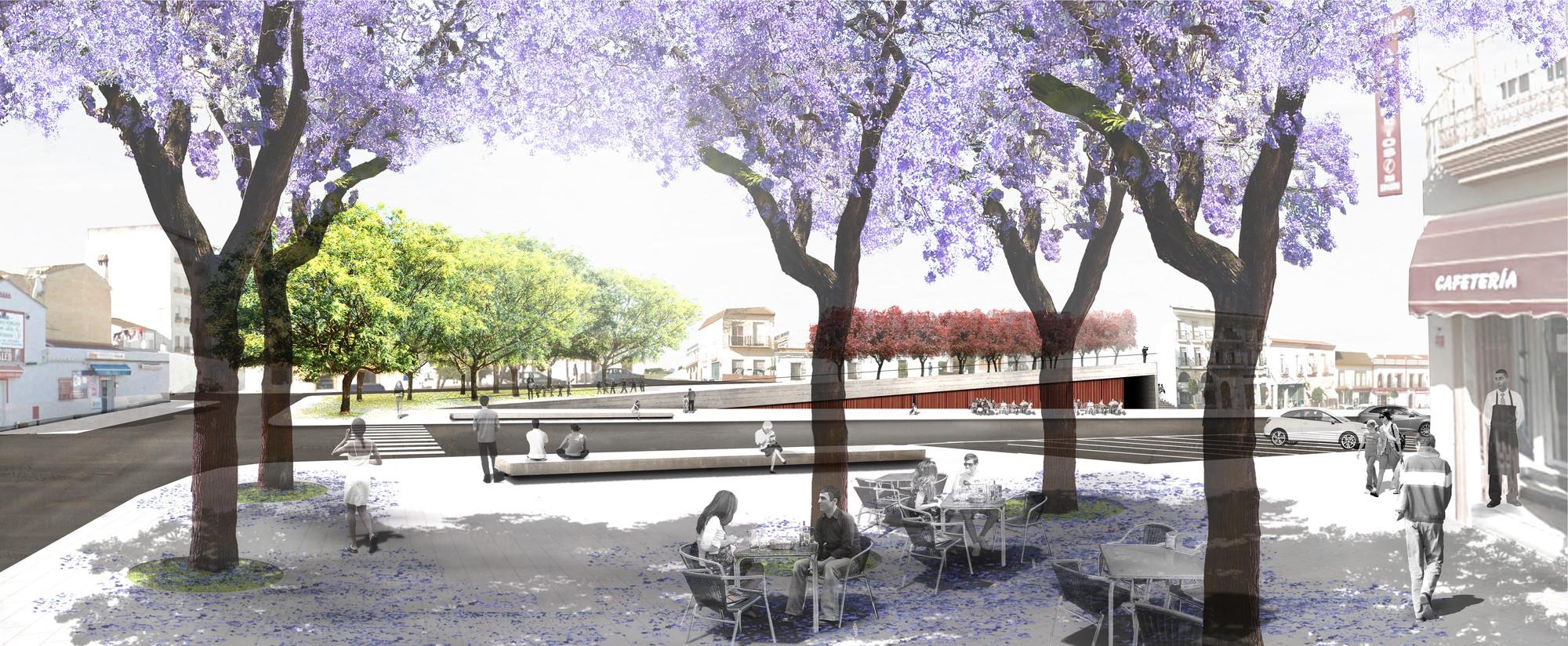 Emac Arquitectura, primer lugar en concurso de la Plaza de la Cruz / Huelva, España, Cortesia de Emac Arquitectura