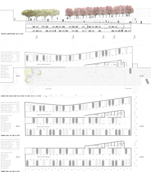 Planta y elevaciones/fachadas