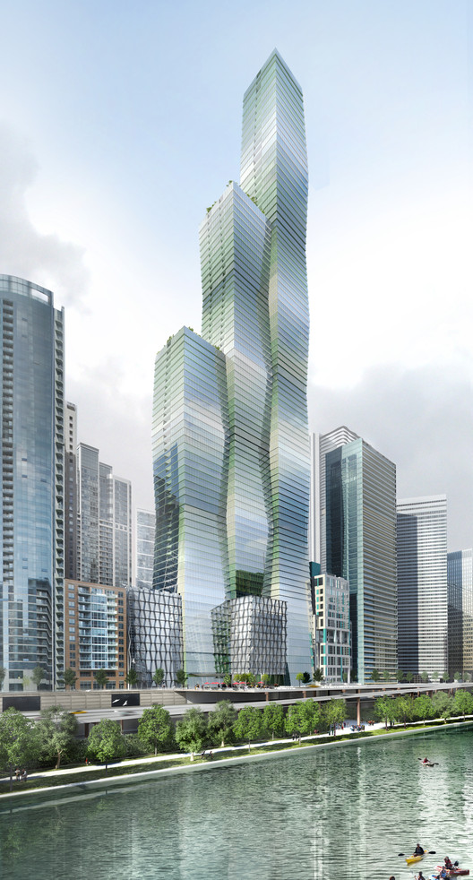 Studio Gang Goes Public with Chicago's Newest Tower: Wanda Vista, © Studio Gang Architects
