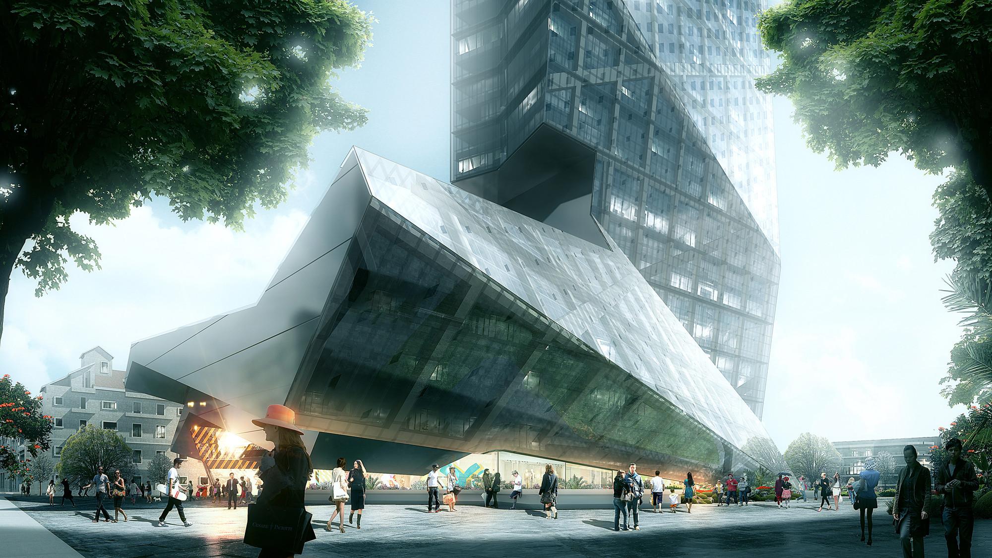Plaza. Image © Luxigon, courtesy of Morphosis Architects