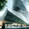 Plaza. Image © Luxigon, courtesy of Morphosis Architects