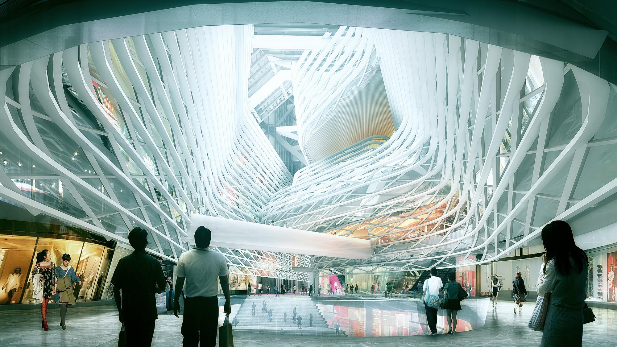 Retail. Image © Luxigon, courtesy of Morphosis Architects