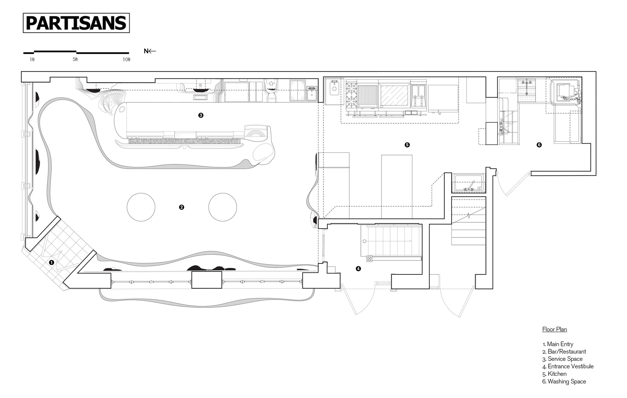 Bar raval partisans archdaily for Nightclub floor plans