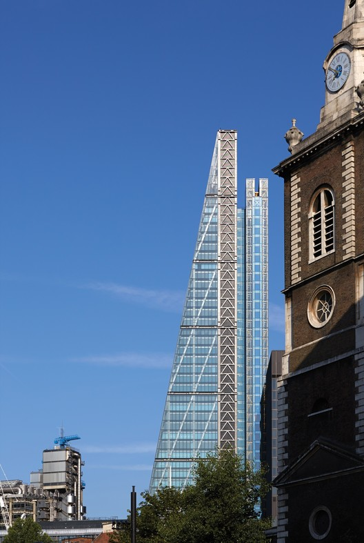 "RSHP's Leadenhall Building (the ""Cheesegrater"") in London. Image © Richard Bryant – Courtesy of British Land/Oxford Properties"
