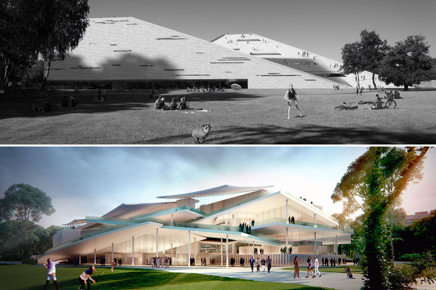 SANAA and Snøhetta Tie for Budapest's New National Gallery and Ludwig Museum, via inexhibit