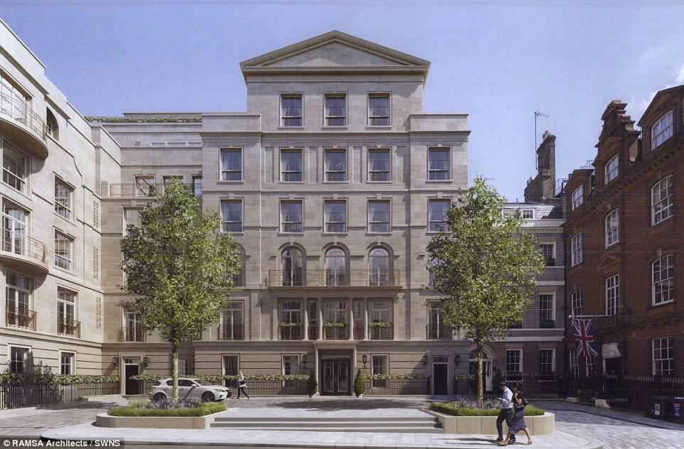 Robert A.M. Stern to Build Britian's Most Expensive Flats, Rendering. Image © RAMSA
