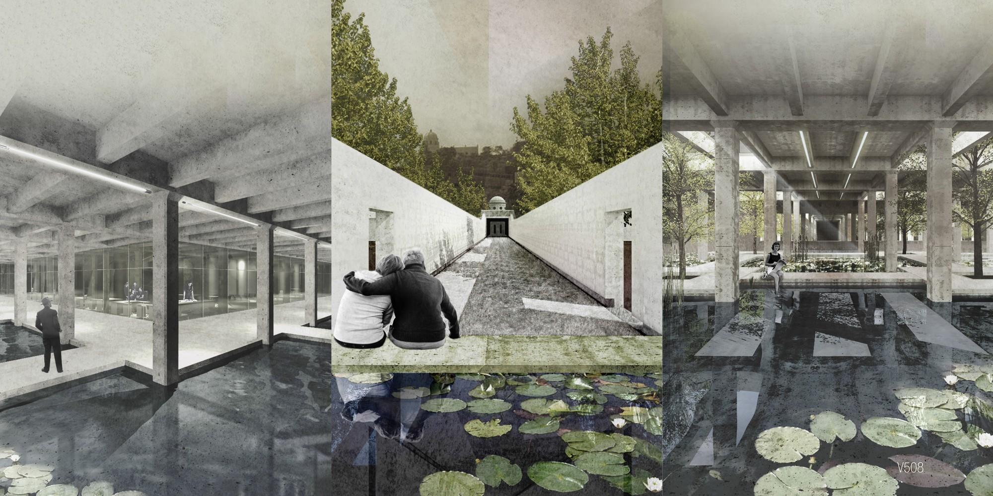 Primer lugar Concurso para la Rehabilitación y Transformación Sustentable del Tanque Obispado / Monterrey, México, Cortesia de Covachita Taller de Arquitectura + Garza Camisay Arquitectos