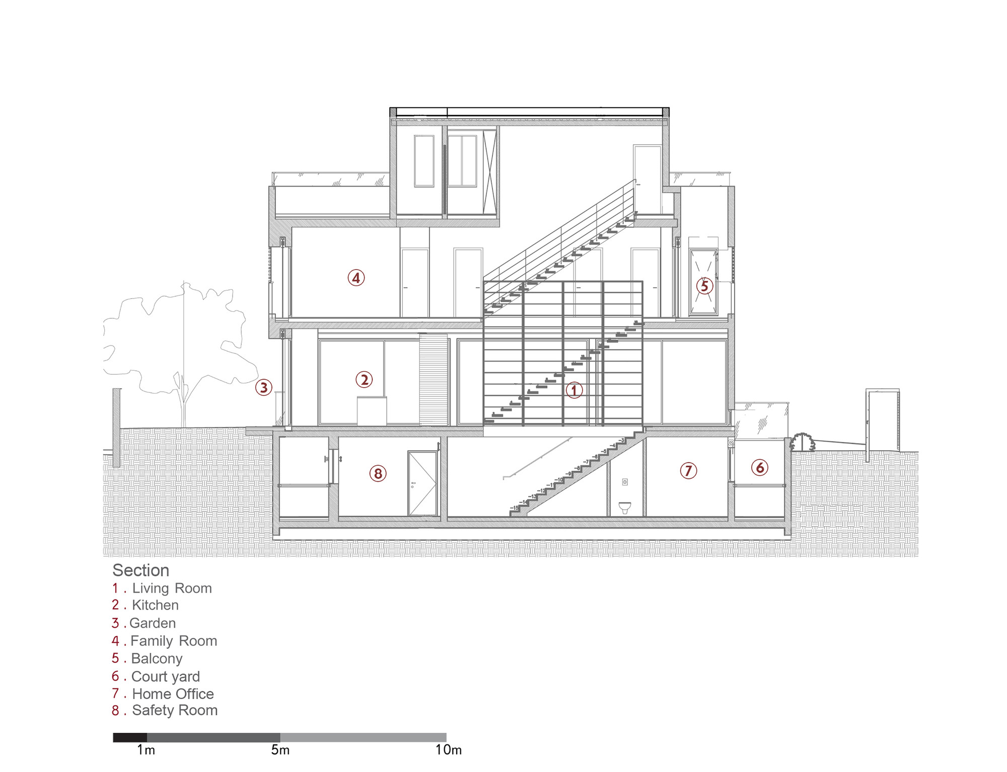 Sectional View Of A Building