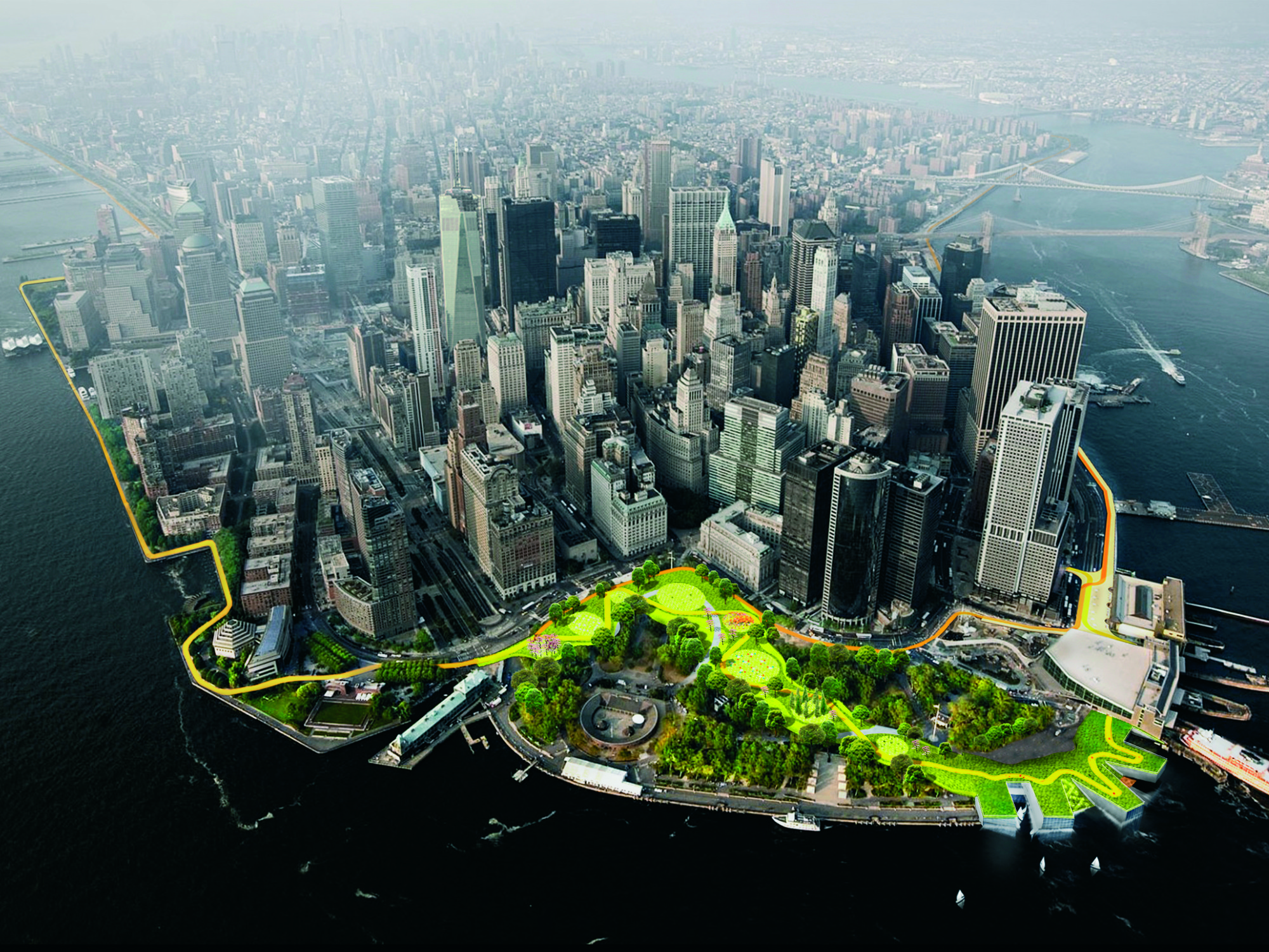Tercer lugar: 'The Dryline' en Nueva York. Image Cortesia de Holcim Foundation