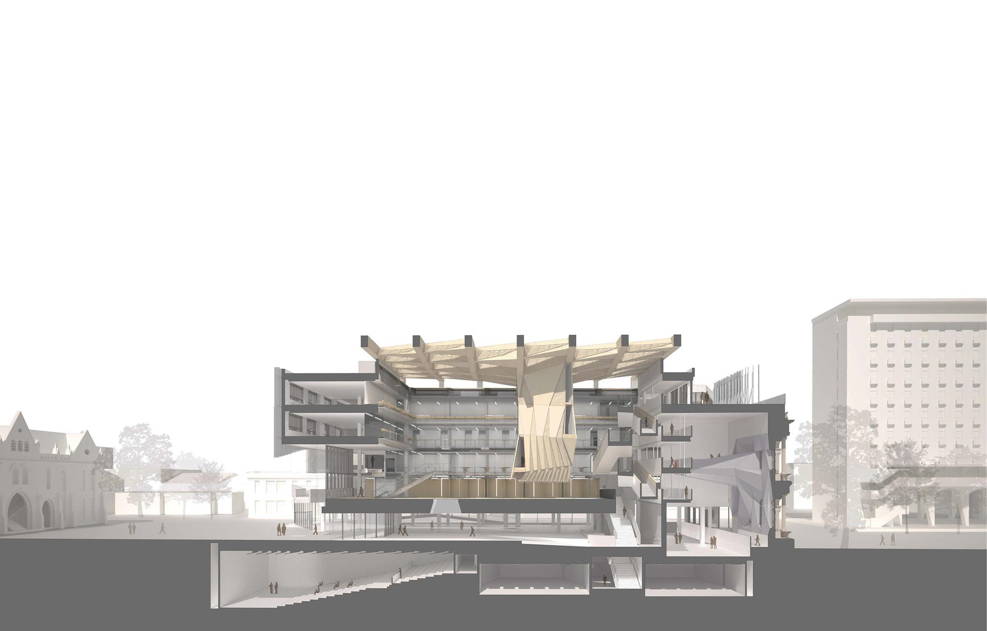 Melbourne school of design university of melbourne john for Drawing hall design