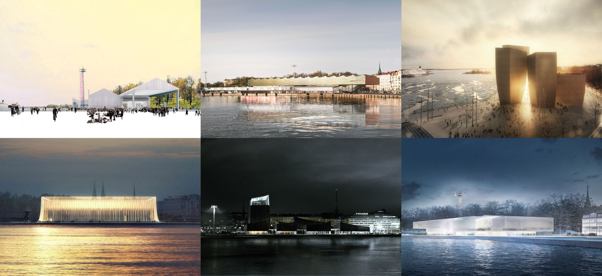 6 Final Designs Unveiled for Guggenheim Helsinki , All 6 finalists. Image Courtesy of Guggenheim