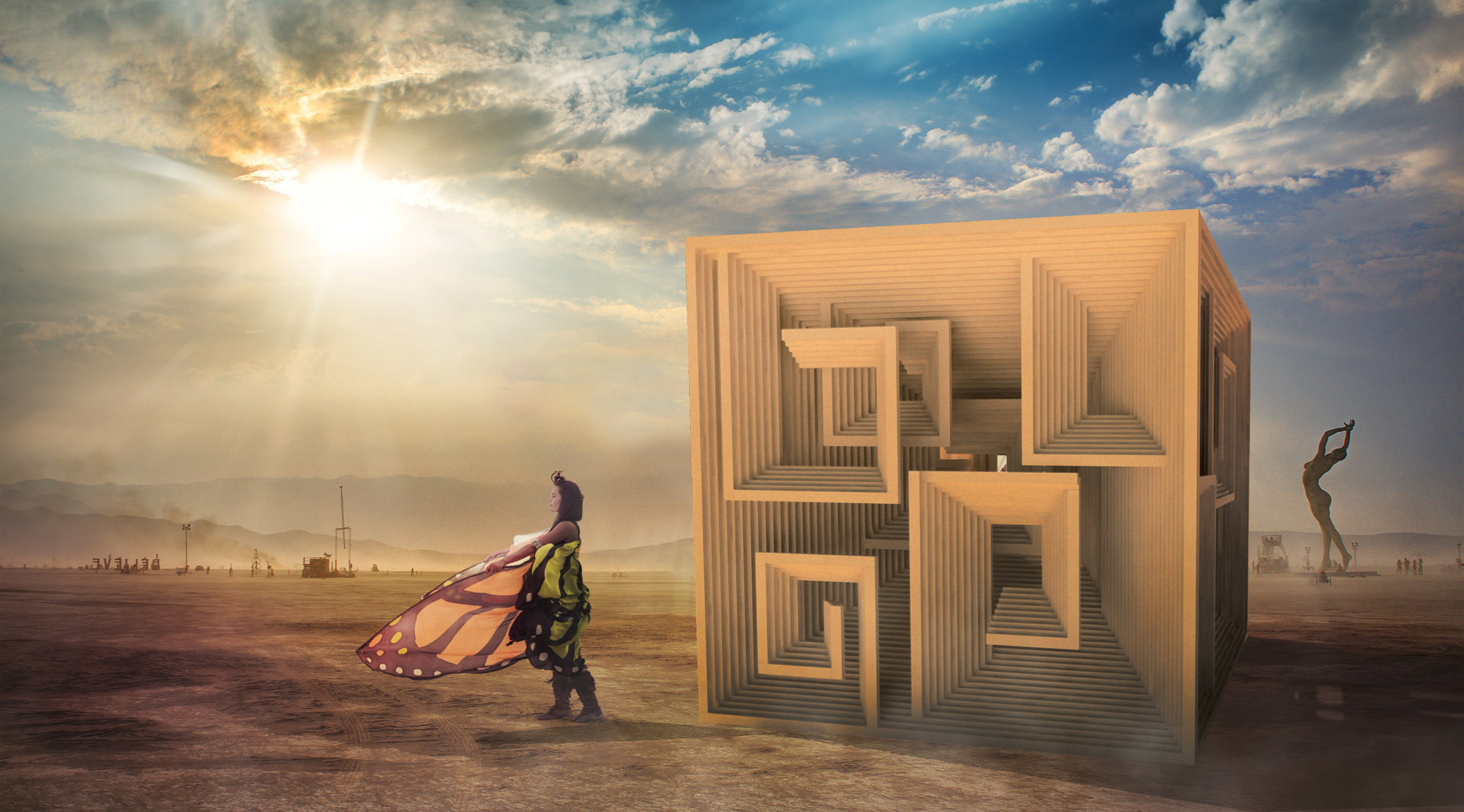 3 Student-Designed Pavilions from DS10 to be Built at Burning Man, Bismuth Bivouac / Jon Leung