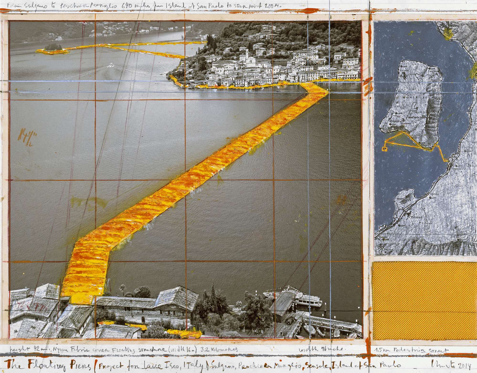 Christo's Floating Piers Will Let You Walk on Water in Italy, © Christo
