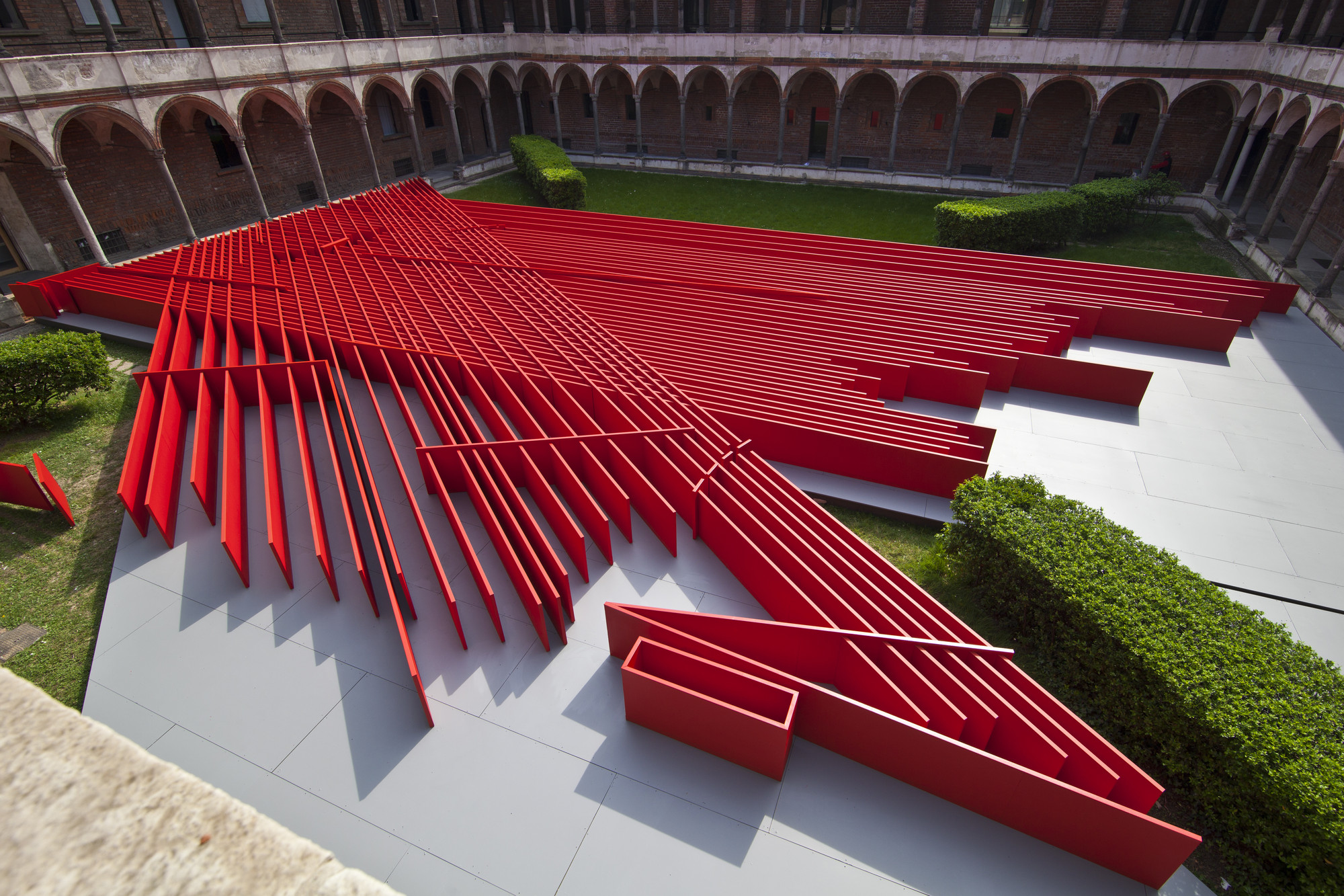 Gallery of daniel libeskind 39 s future flowers represent for Red landscape architects