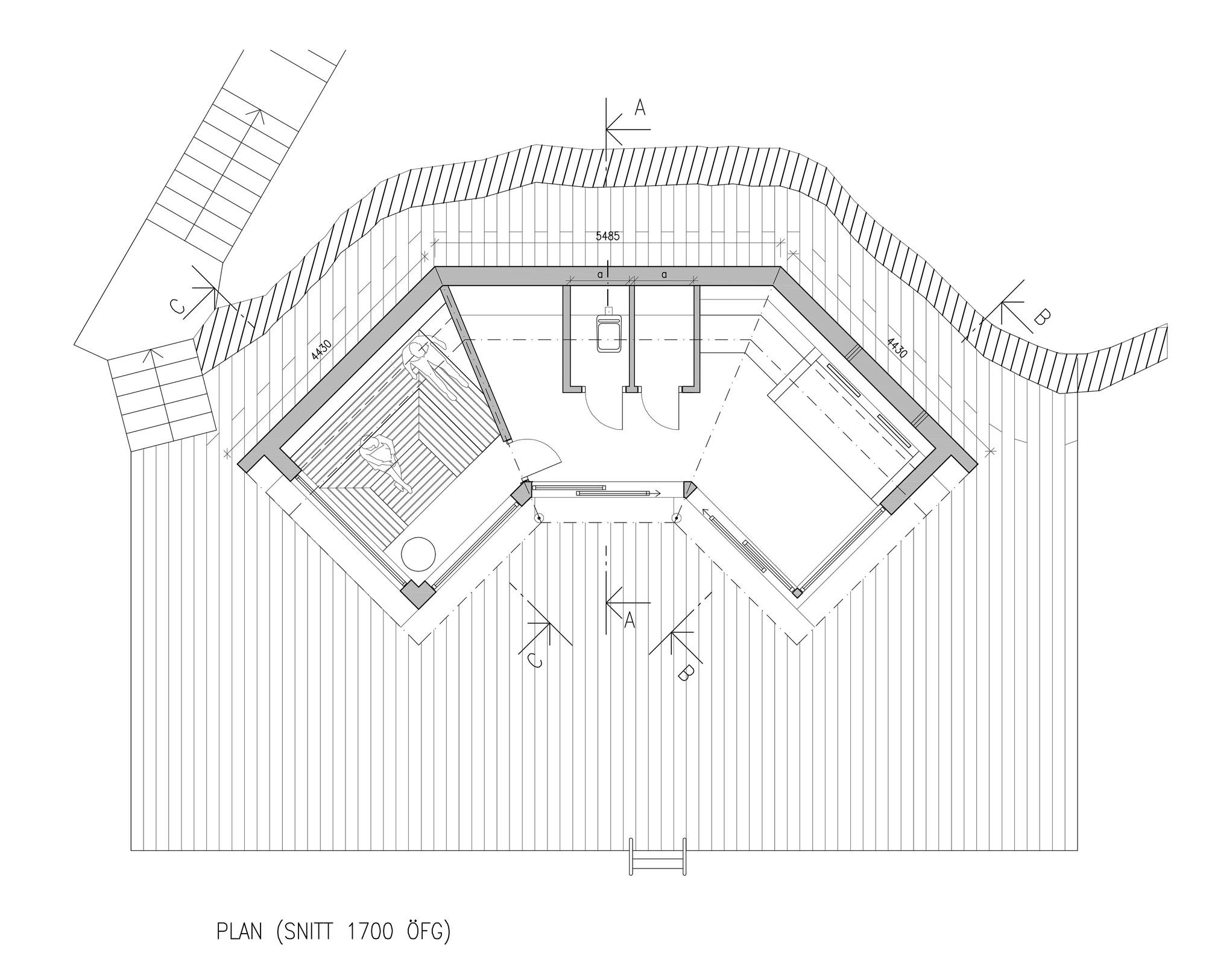 Sauna saltsj baden murman arkitekter archdaily Sauna floor plans