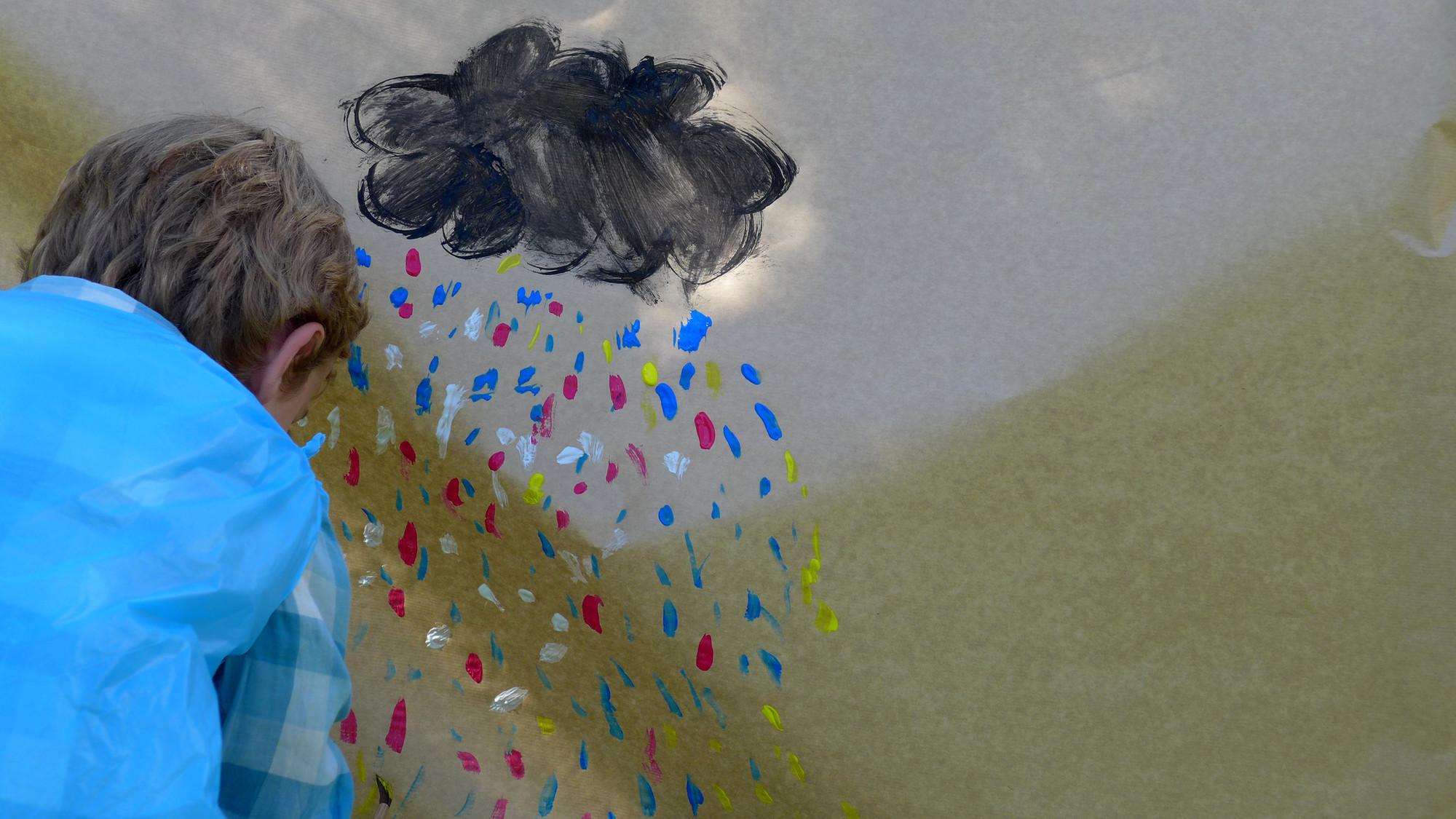Refugios + emociones: propuesta de Claudia, Lucas y Marco  7, 9 y 8 años respectivamente. Image © Elena Martínez
