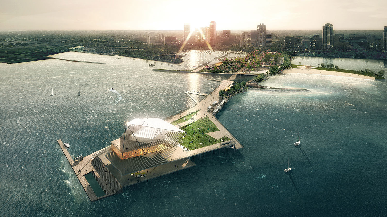 Rogers Partners and ASD Chosen to Redesign St. Petersburg's Pier , © The Pier Park / Rogers Partners Architects+Urban Designers, ASD, Ken Smith