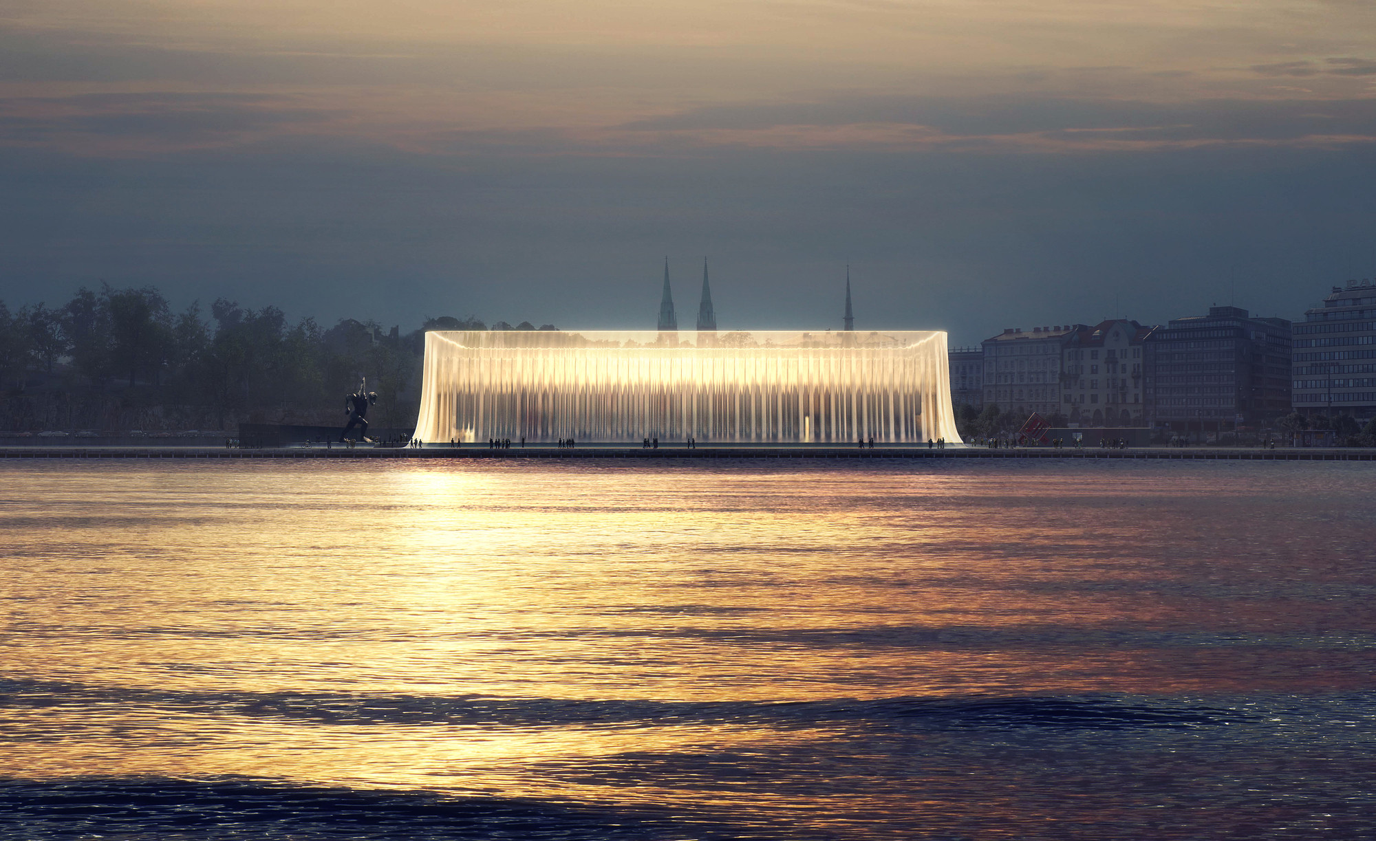 7 Takeaways from Van Alen's Survey on Architectural Competitions, One of 6 final designs unveiled for Guggenheim Helsinki - the world's most popular open architectural competition. Image © GH-121371443