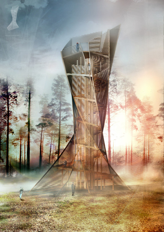 Italian Architects to Build Tree-Inspired Lookout Tower in Bruneck, © Anton Pramstrahler and Alex Niederkofler