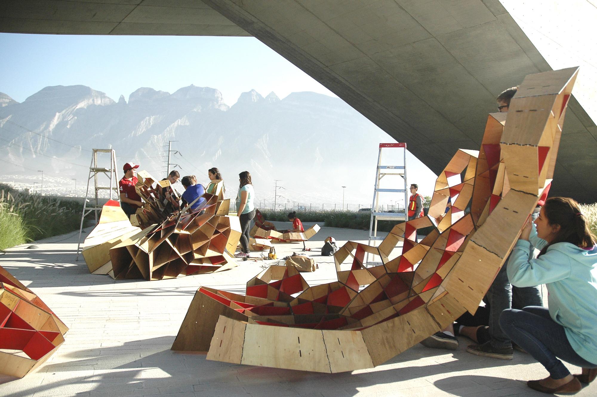 Monterrey: estudiantes de primer año realizan pabellón 'Bicho3' a base de experimentación paramétrica, © Daniela Frogheri