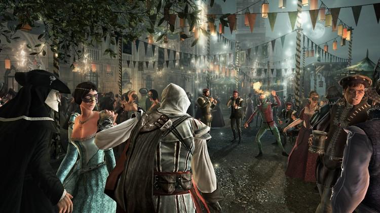 Carnaval de Venecia: vestuarios y mascaradas.. Image © Ubisoft Montreal