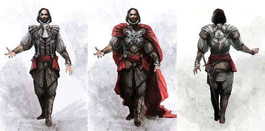 Concept art for the character of Cesare Borgia, made by Vincent Gaigneux. Image © Ubisoft Montreal  What It's Like to Be an Architectural Consultant for Assassin's Creed II Concept art of Cesare Borgia