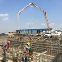 En construcción / Cimientos del Hangar