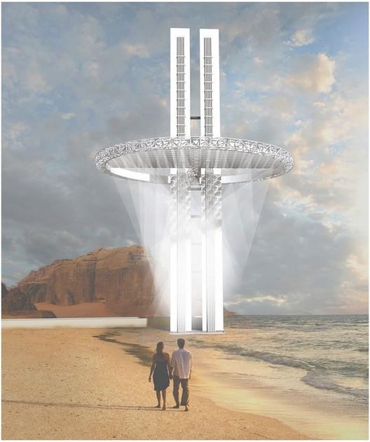 Water Skyscraper in Somalia / Nurzhanat Kenenov. Imagen cortesía de eVolo
