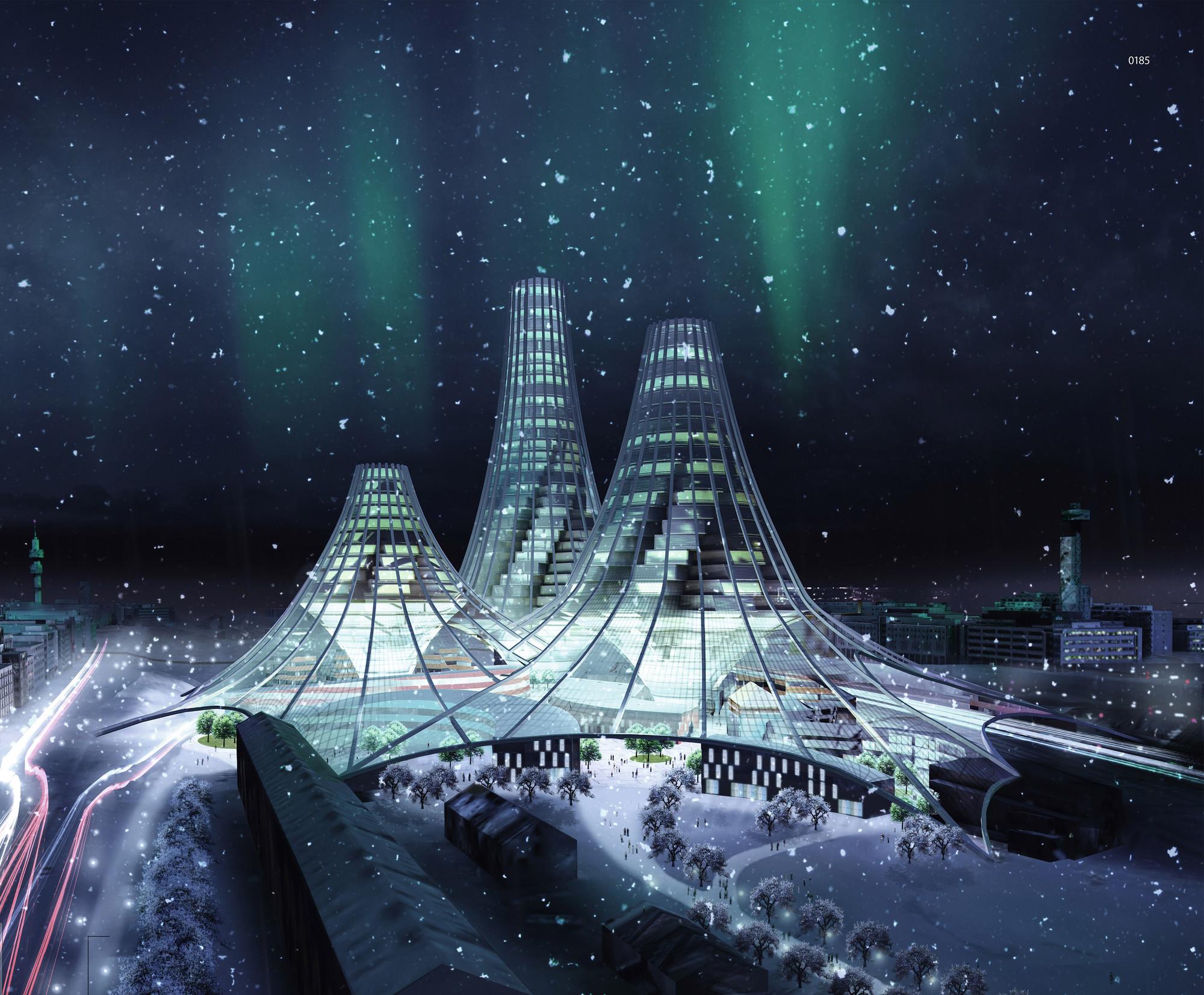 Re2iffel Equalizer Skyscraper / Teemu Holopainen, Tomi Jaskari, Tuomas Vuorinen, Simon Ornberg. Imagen cortesía de eVolo