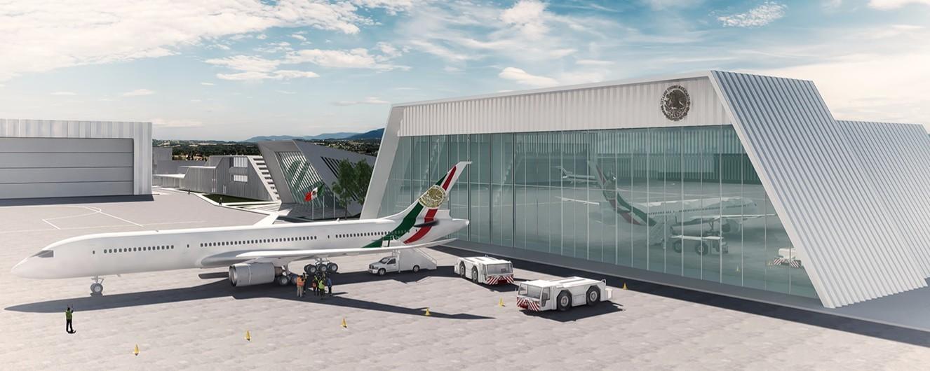 En construcción: BNKR Arquitectura diseña proyecto de los Hangares Presidenciales de México, © BNKR Arquitectura