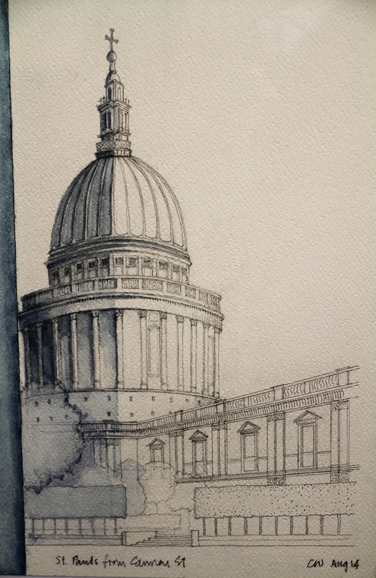 Chris Wilkinson of Wilkinson Eyre is another architect to have publicly defended the importance of sketching. Here, his drawing for Article 25's 10x10 charity auction. Image © Chris Wilkinson Courtesy of Article 25