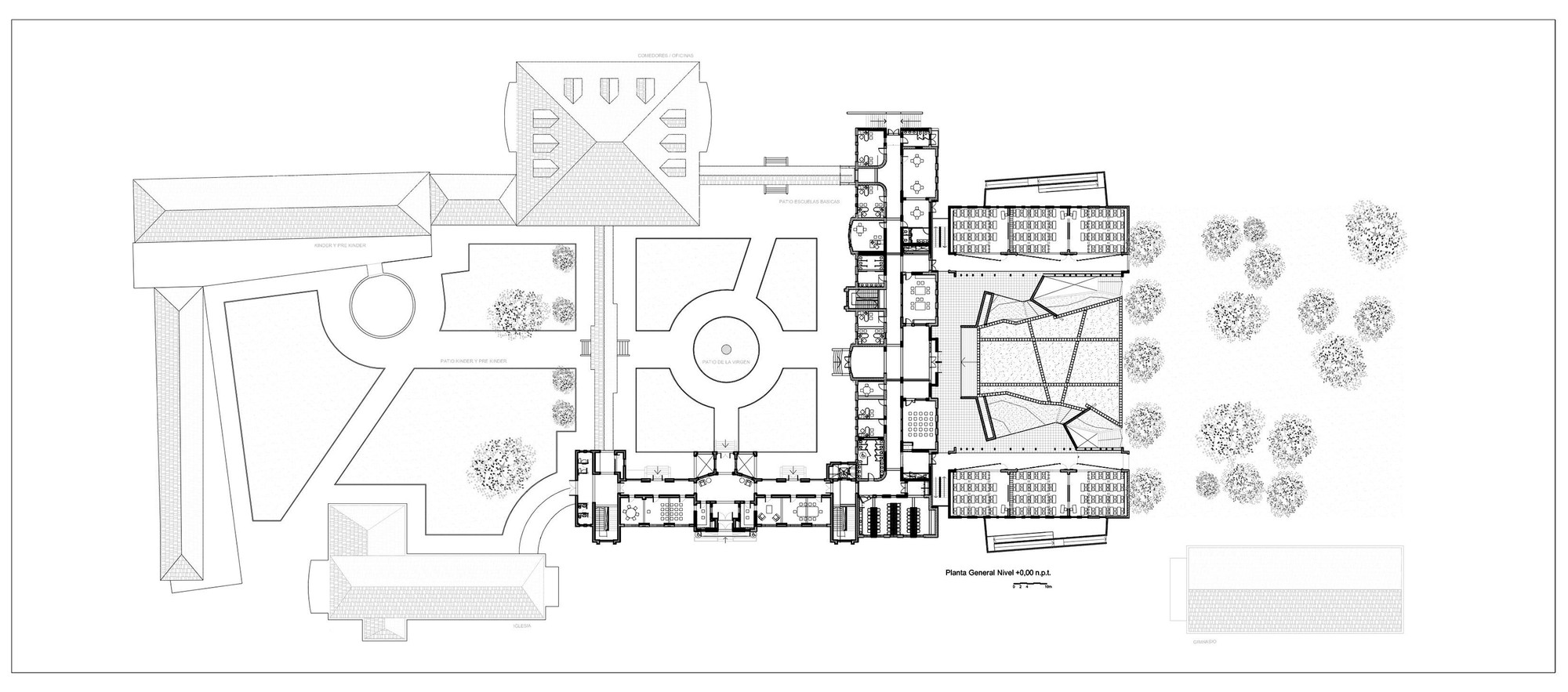 las nieves technical vocational school wrl arquitectos archdaily plan level 0 0mt