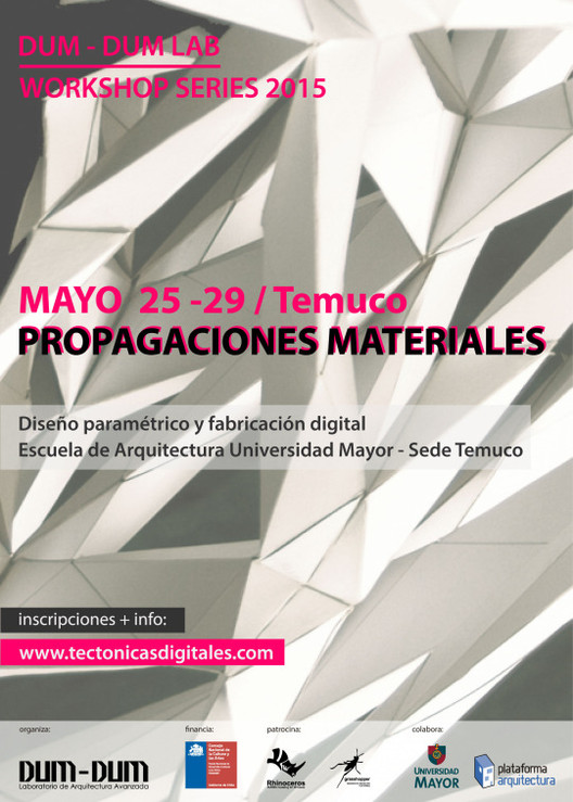 "Workshop series: ""Propagaciones materiales"" en Temuco, Chile"